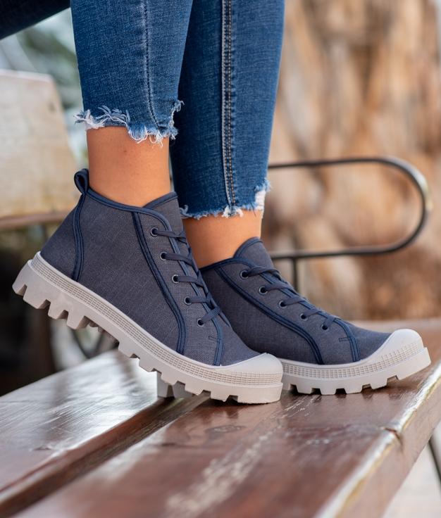 Sneakers Binse - Blu Marino