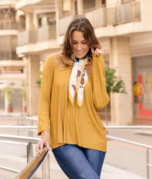 T-shirt Avali - Mustard