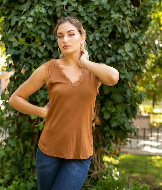 Camiseta Mirlo - Marrón