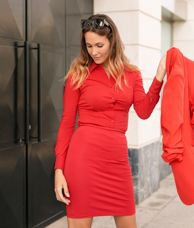 Camisa Monfer - Rojo