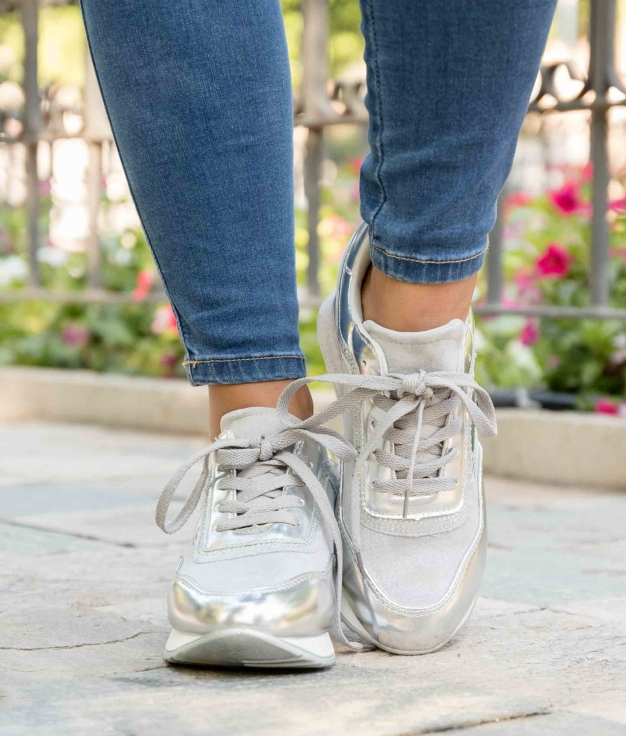 Sneakers Nuclox - Prata