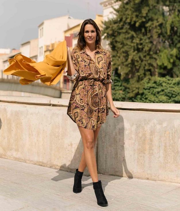 Vestido Crispin - Mostaza