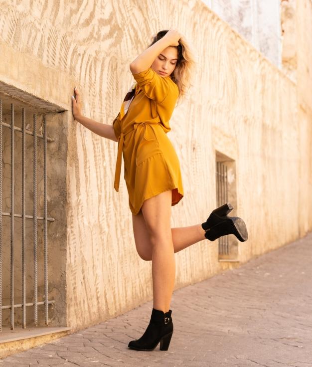 Dress Darka - Mustard