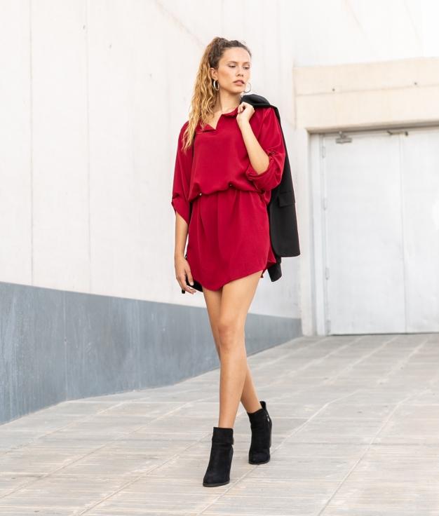 Vestido Sulas - Granate