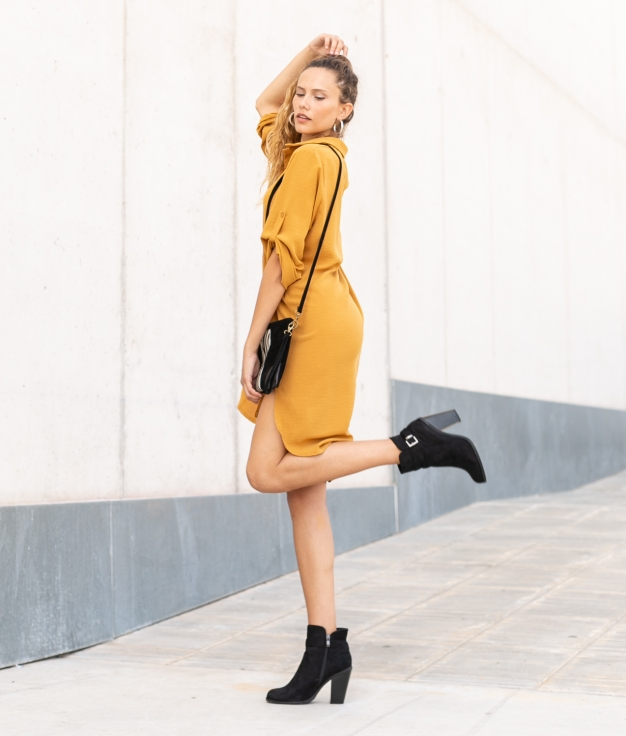 Vestido Sulas - Mostaza