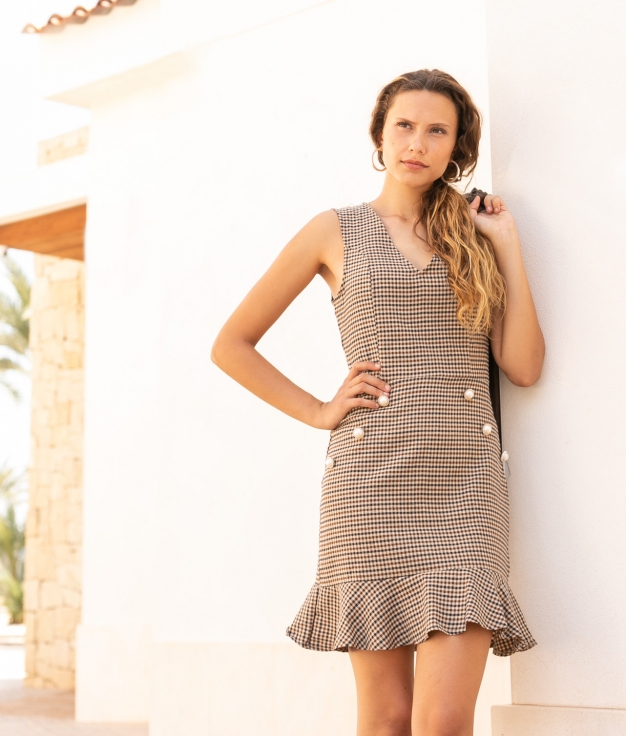Dress Saper - Brown