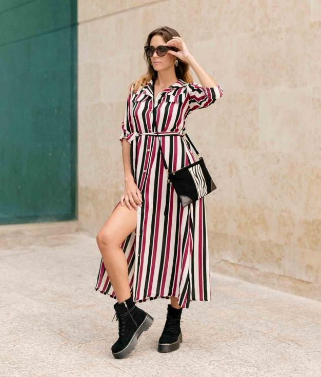 Dress Sofil - Maroon