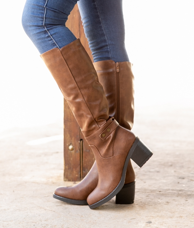 Knee-length Boot Sire - Camel
