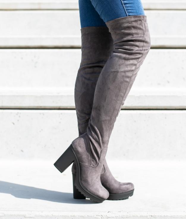Knee-length Boot Cestre - Grey