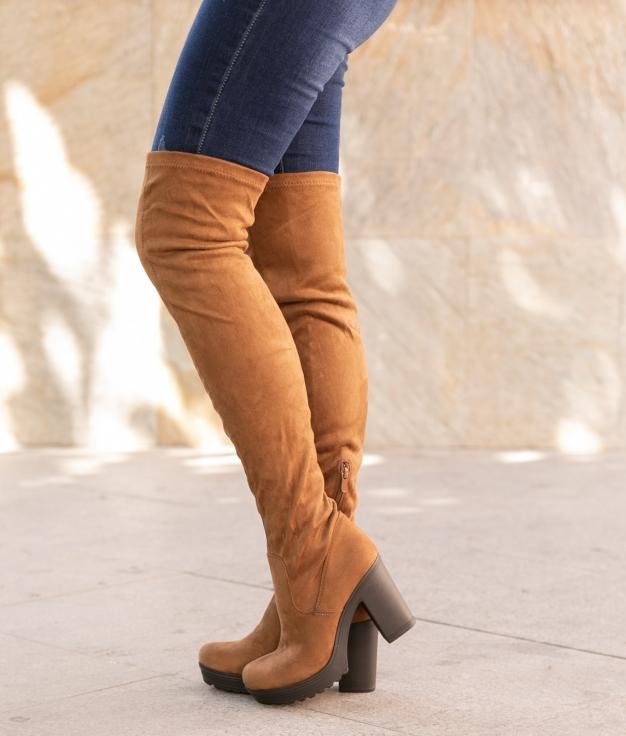 Knee-length Boot Cestre - Camel