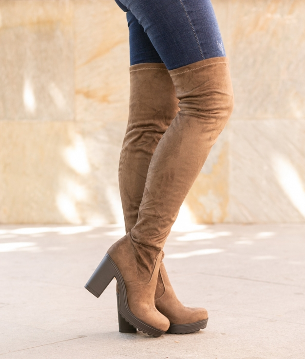 Knee-length Boot Cestre - Khaki