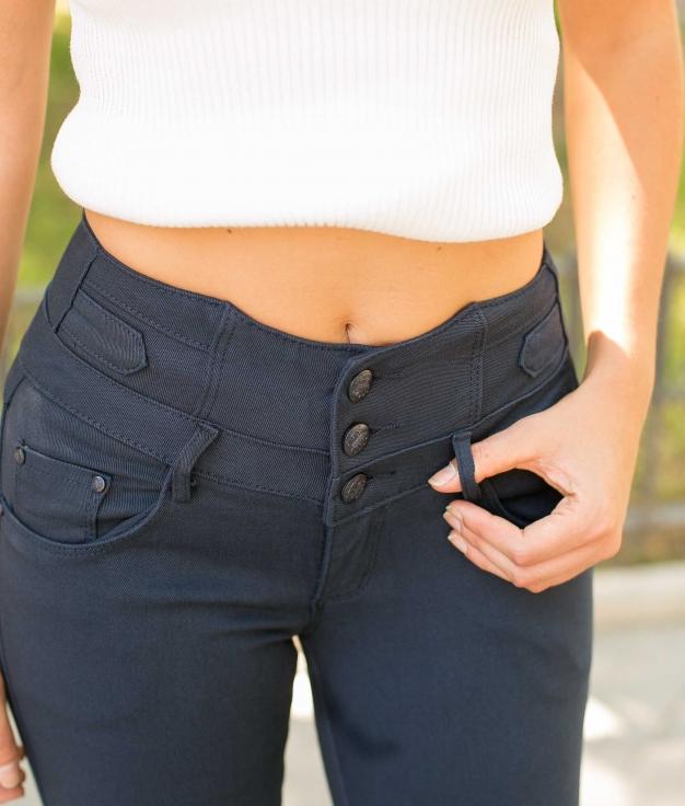 Pantaloni Beix - Blu Marino