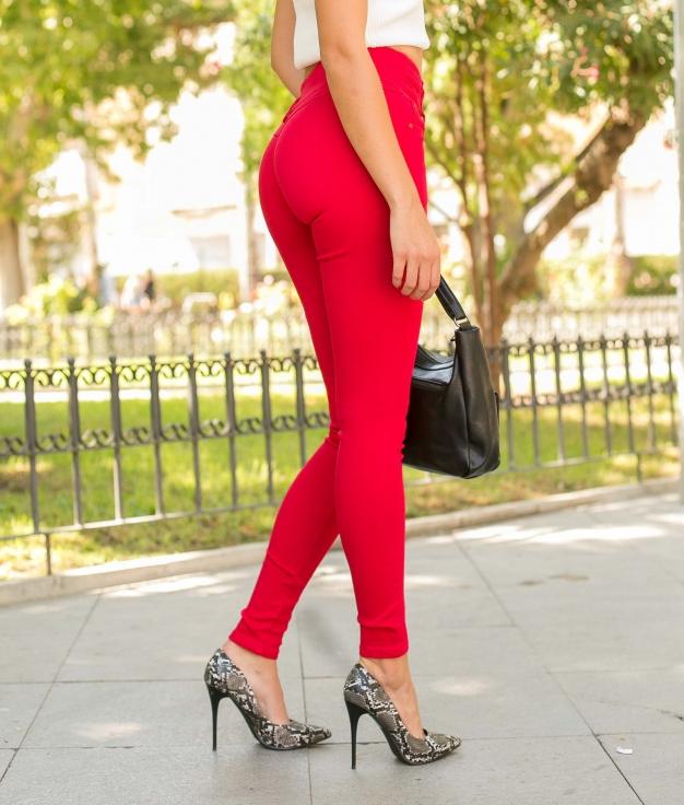 Pantalon Beix - Rouge