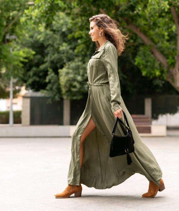 Vestido Texon - Verde