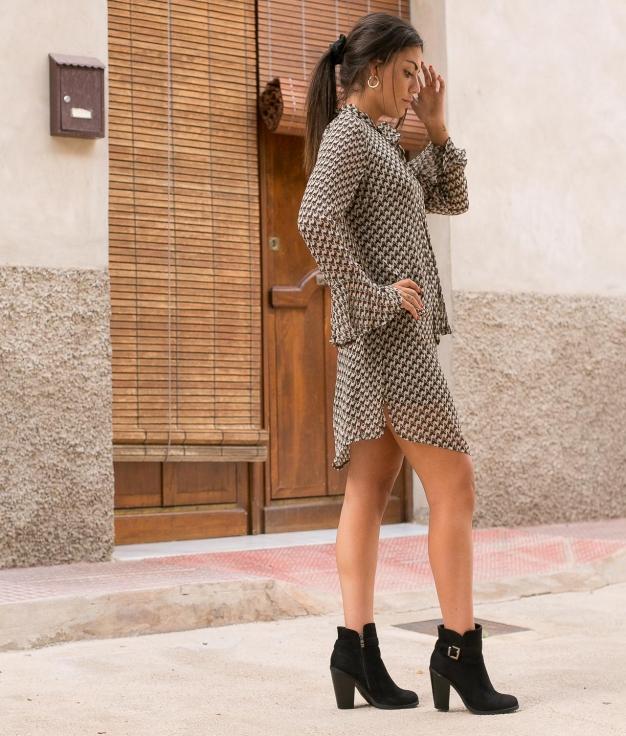 Dress Badi - Brown