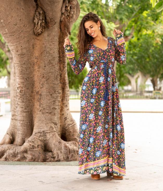 Vestido Kanit - Multicolorido