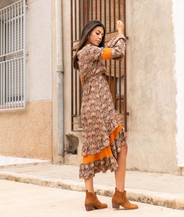Vestido Nevi - Naranja