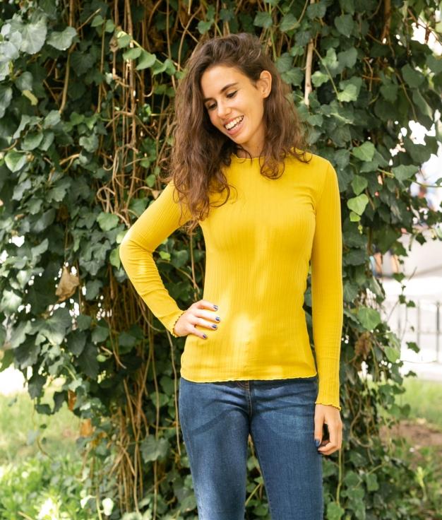 T-shirt Linta - Mustard