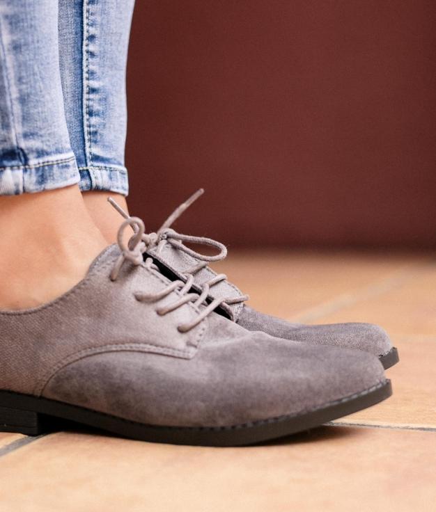 Zapato Tuks - Cinza