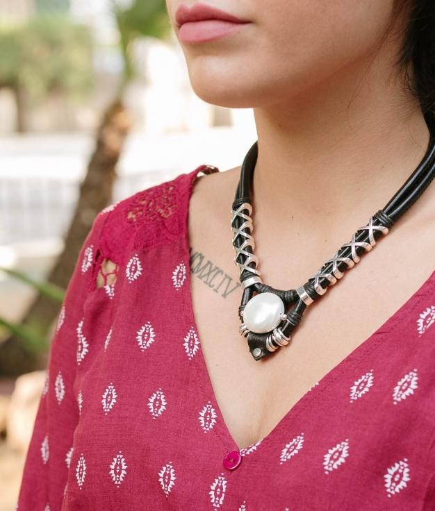 Necklace Chandra - Black