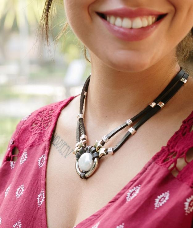 Necklace Ashia - Dark Brown