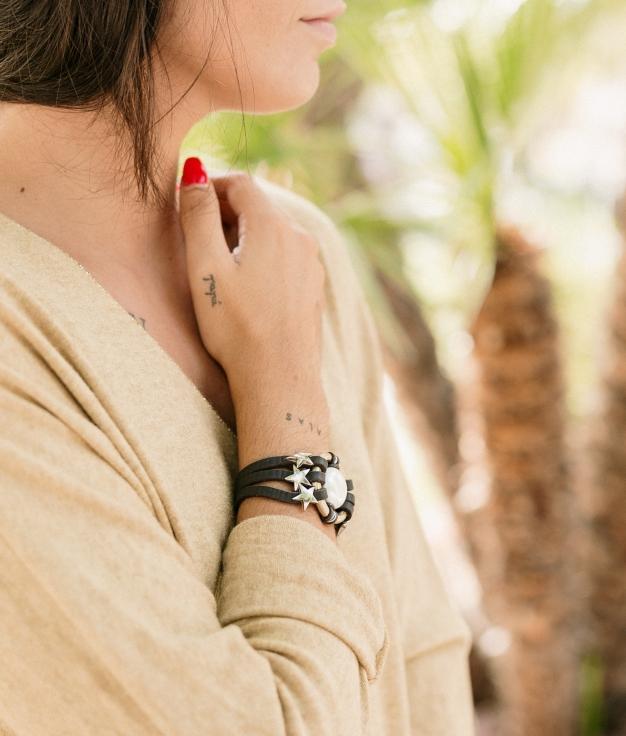 Bracelet Ashia - Marron Foncé
