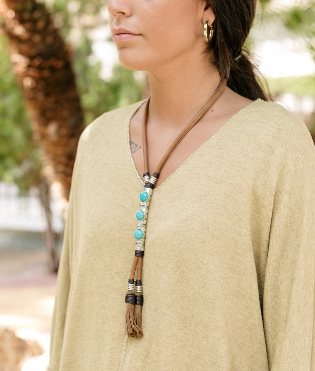 Necklace Altair - Brown