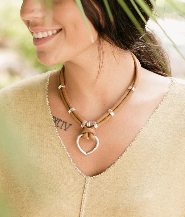 Necklace Crux - Brown