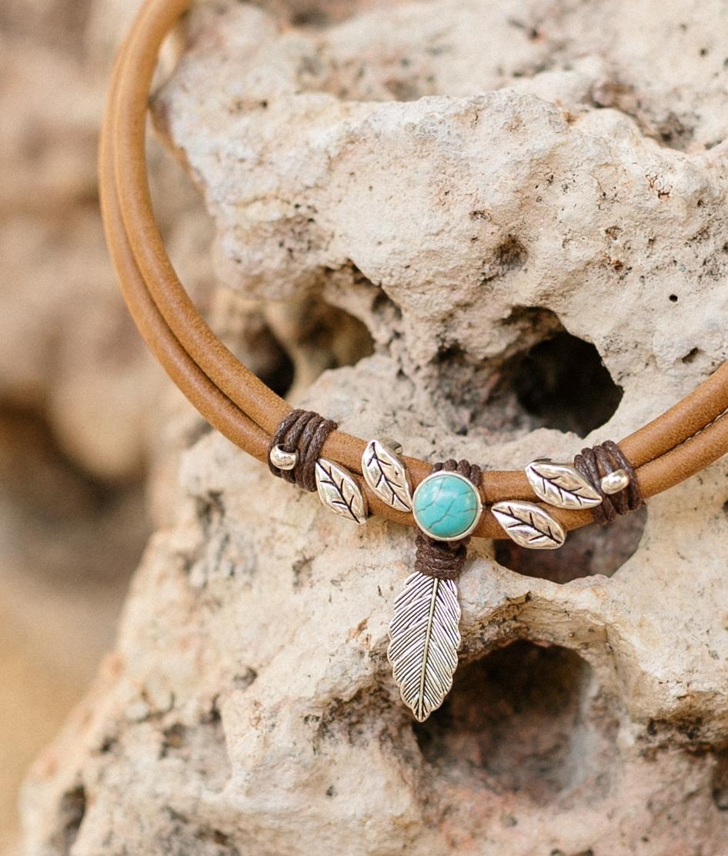 Necklace Fenix - Brown