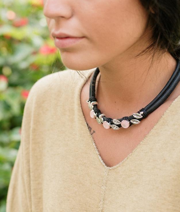 Necklace Opal - Black