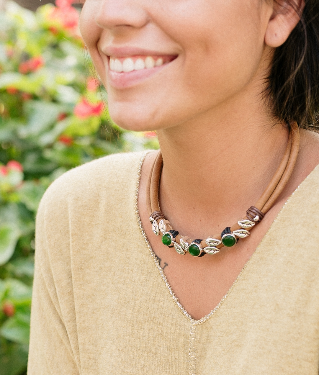 Necklace Opal - Brown