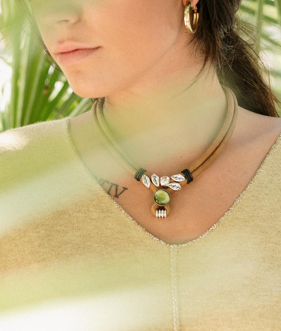 Necklace Vega - Brown
