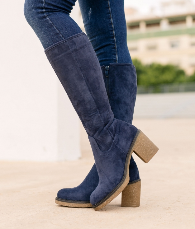Knee-length Boot Hove - Blue