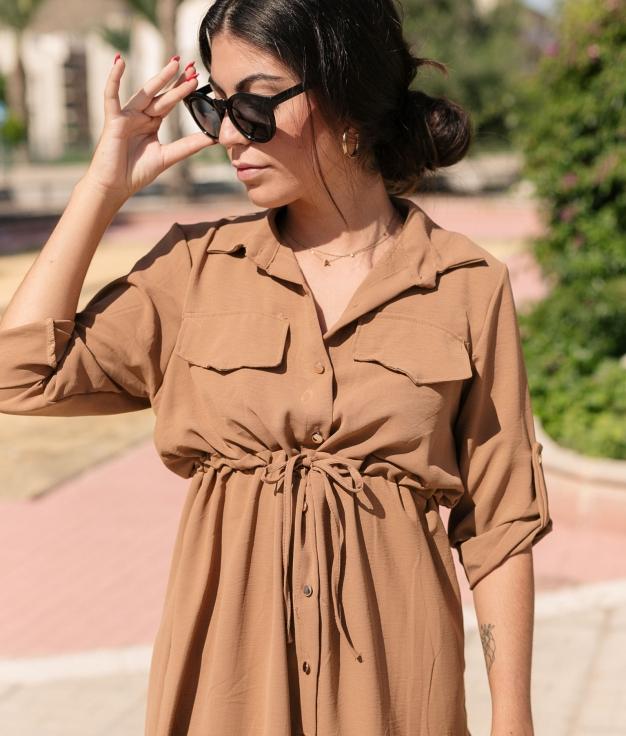Vestido Ligia - Camelo