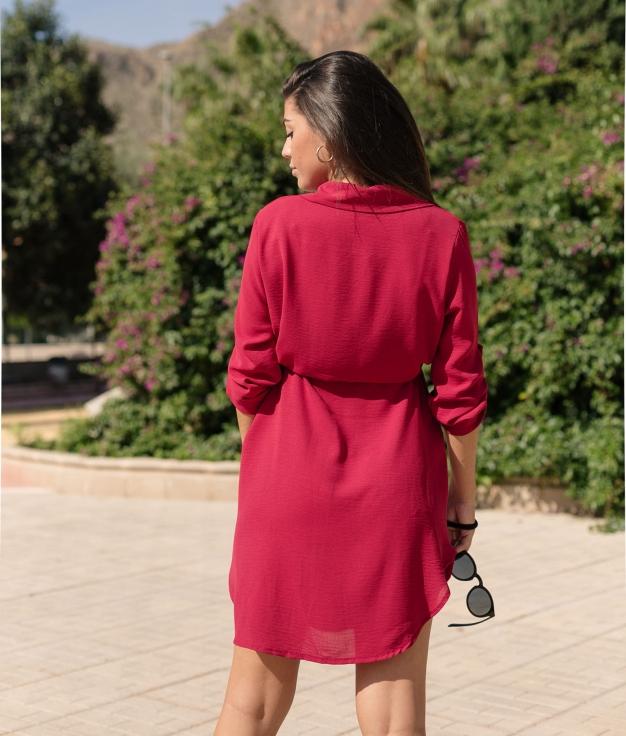 Dress Ligia - Maroon
