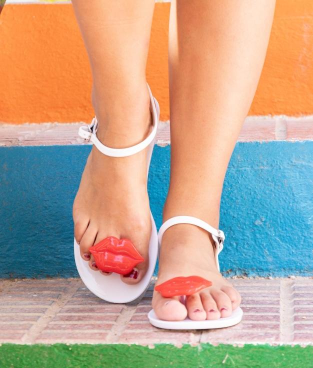 Sandalo Kise - Bianco