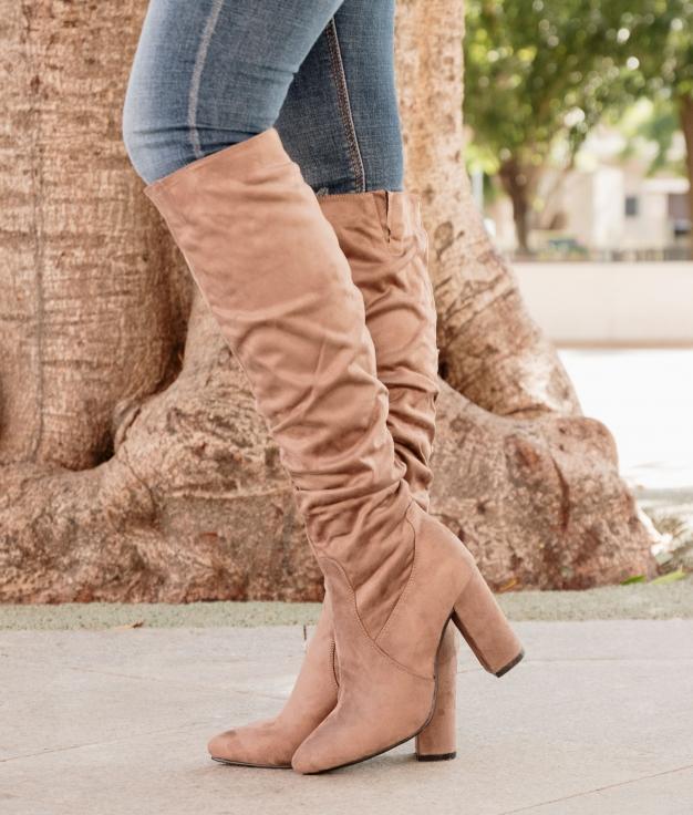 Knee-length Boot Merole - Khaki