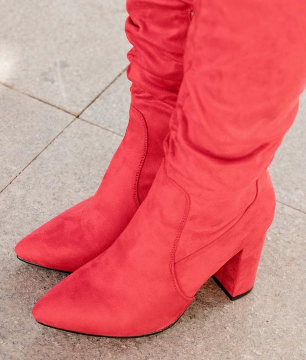 Bota Alta Merole - Vermelho