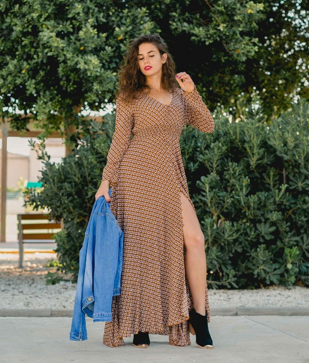 Dress Birma - Brown
