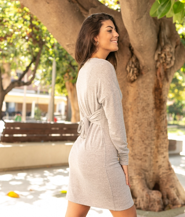 Vestido Virgo - Cinza