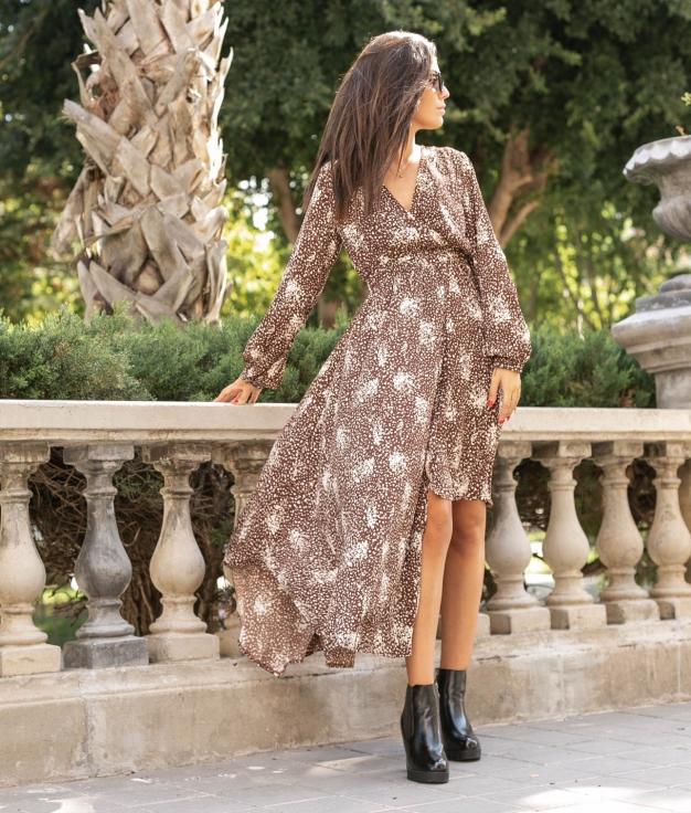 Dress Rotam - Brown