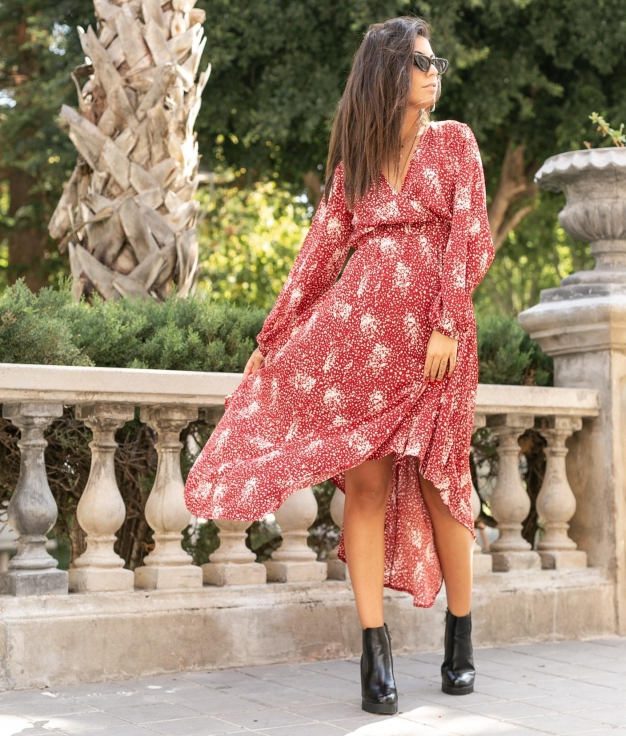 Dress Rotam - Red