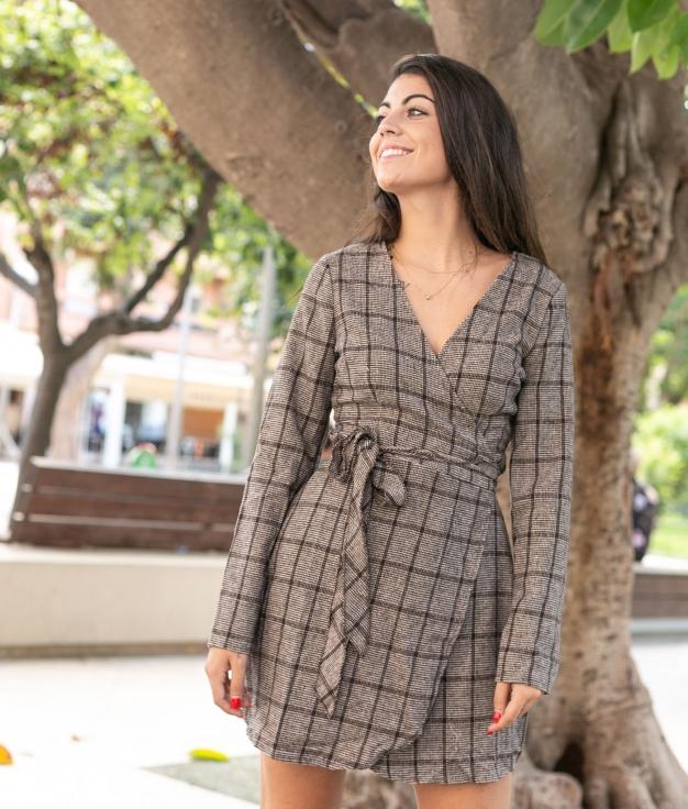 Vestido Retal - Marron