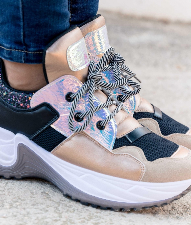 Sneakers Galaxo - Champanha