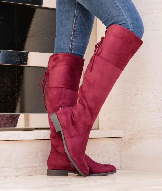 Knee-length Boot Visner - Maroon
