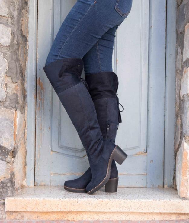 Knee-length Boot Golon - Azul Dark