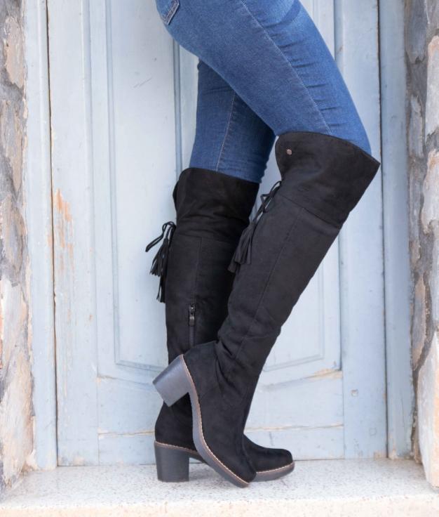 Knee-length Boot Golon - Black