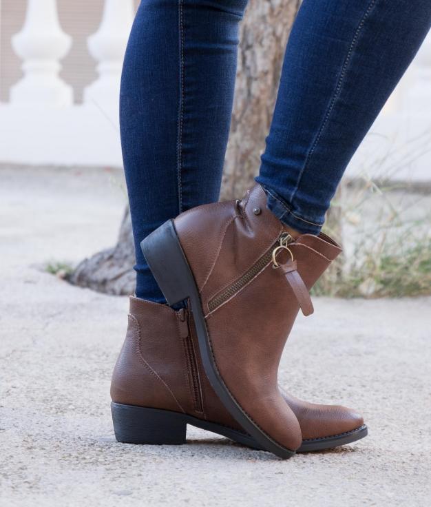 Low Boot Gupola - Camel