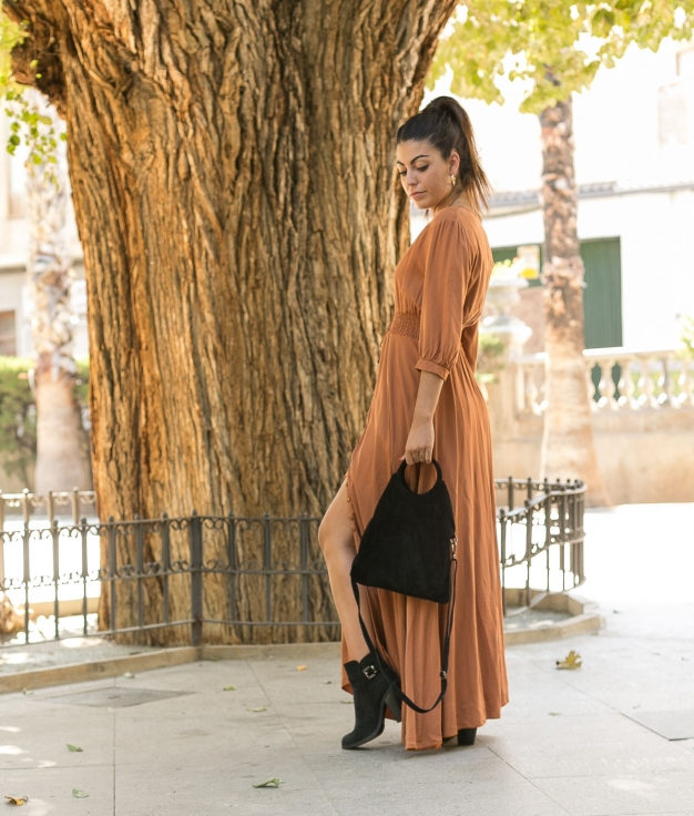 Vestido Malina - Camelo