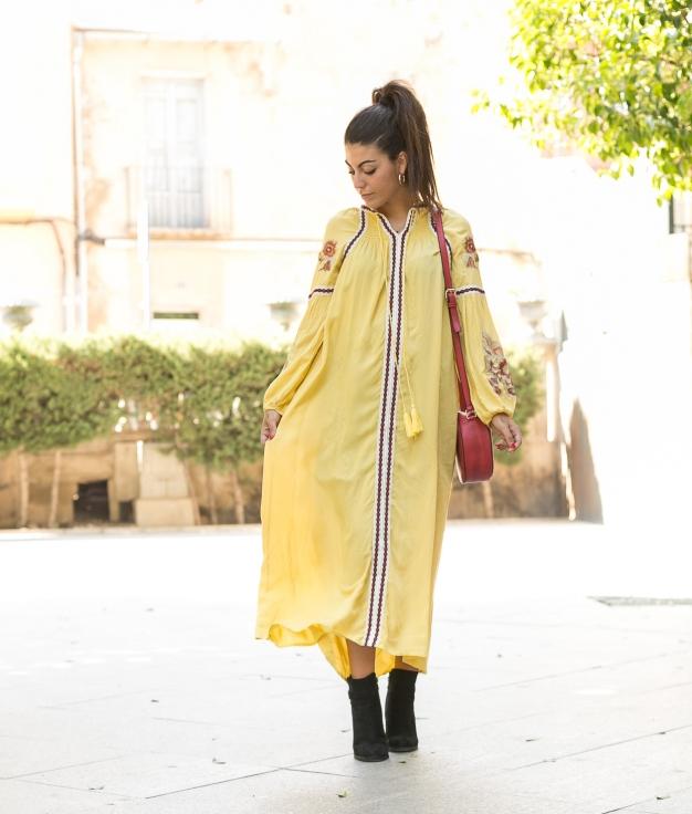 Vestido Mertin - Amarillo